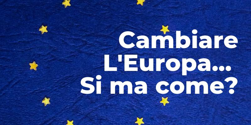 Voglio un'Italia più forte in un'Europa più aperta.